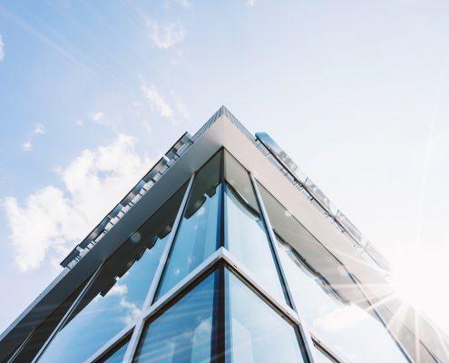 anti reflective spray coatings on high rise building windows