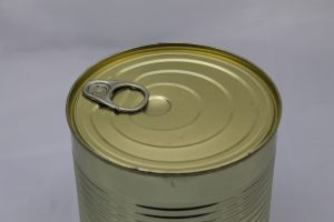 tin can covered in packaging coatings